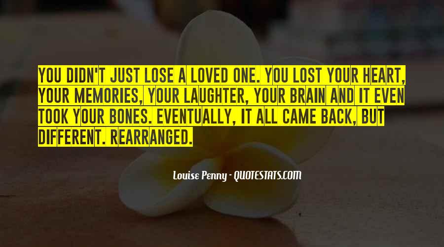 Quotes About Memories Of A Lost Loved One #1734419