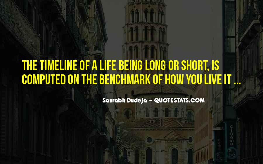 Quotes About How Short Life Is #320047