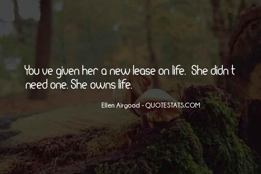 Quotes About New Lease On Life #963433