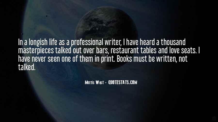 Quotes About A Writer's Life #43401