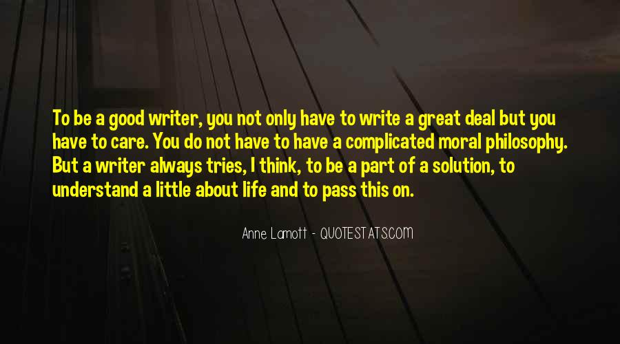 Quotes About A Writer's Life #4386