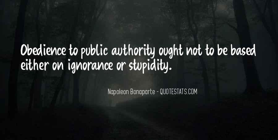 Quotes About Obedience To Authority #26024