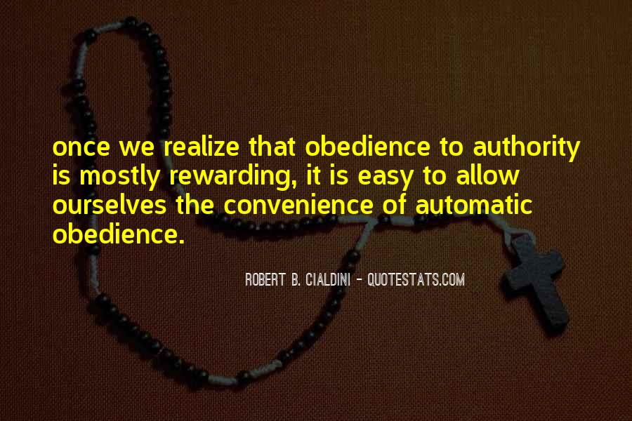 Quotes About Obedience To Authority #976125