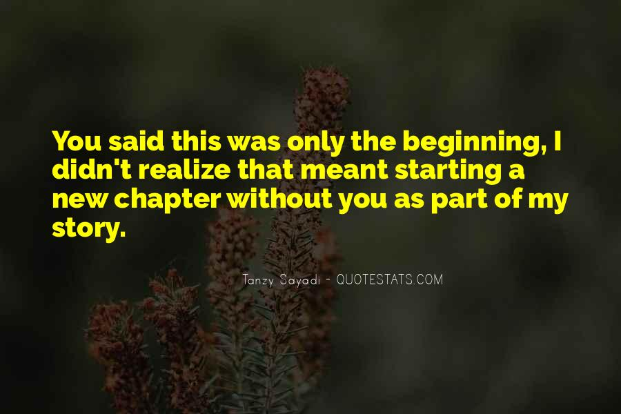 Quotes About A New Beginning Of Love #641007