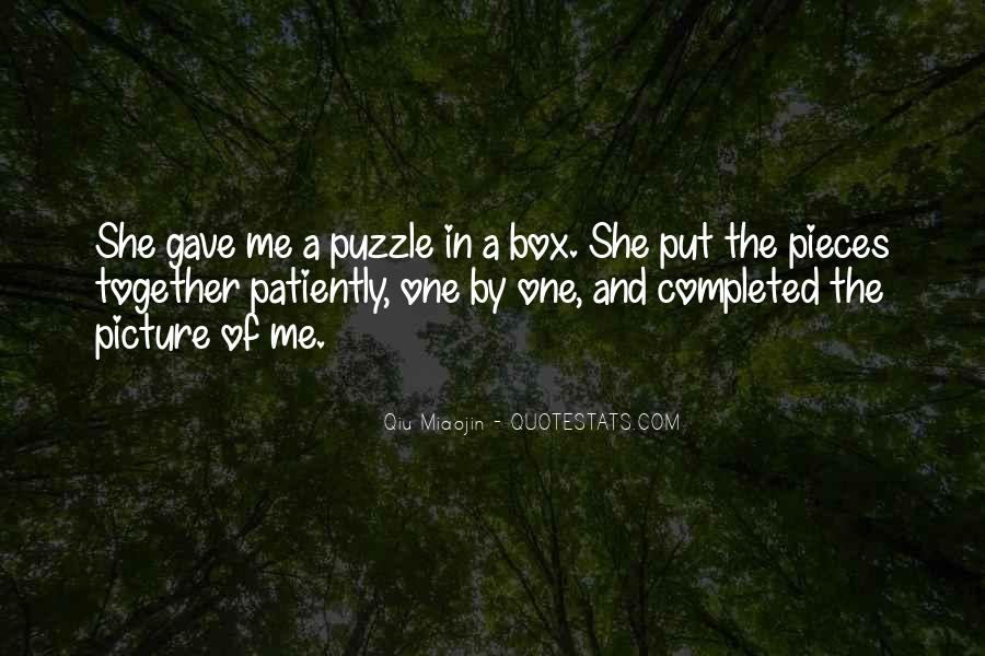 Quotes About Puzzle Pieces And Love #1548005