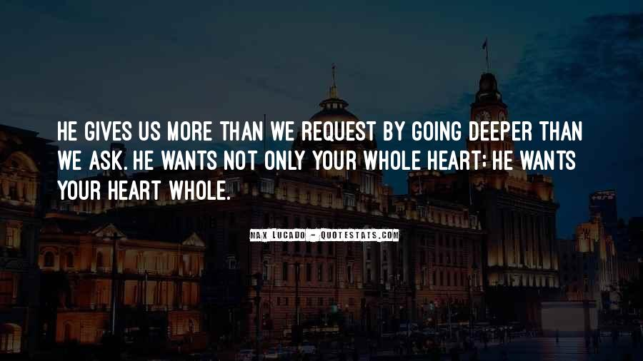 Quotes About Going Deeper #1333407