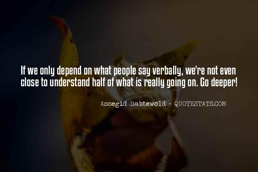 Quotes About Going Deeper #230229