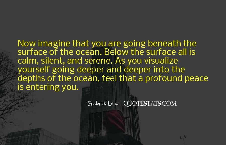 Quotes About Going Deeper #97680