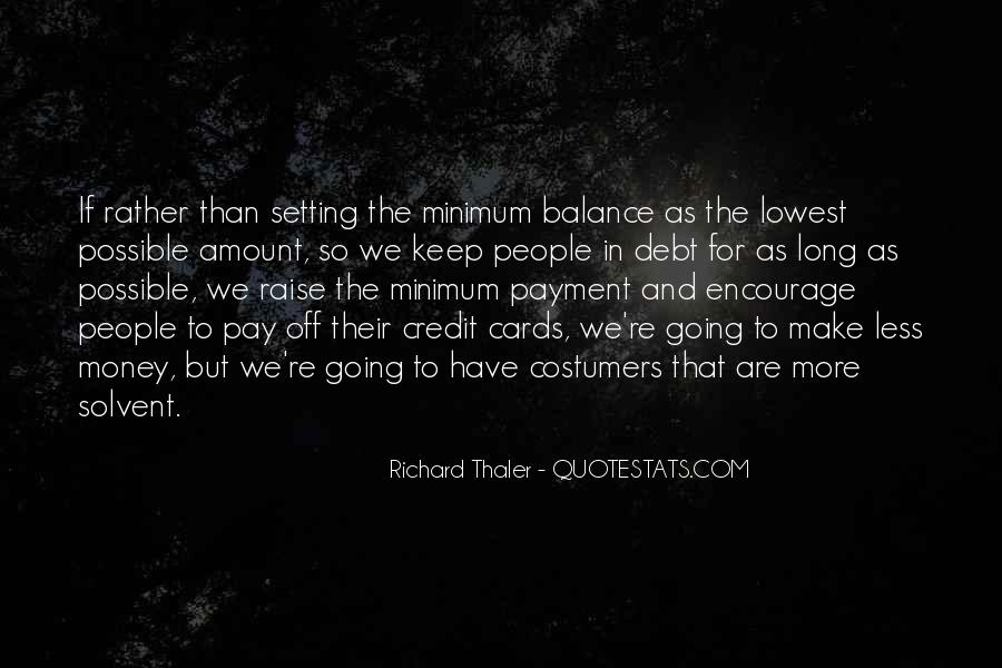 Quotes About Credit And Debt #1060631