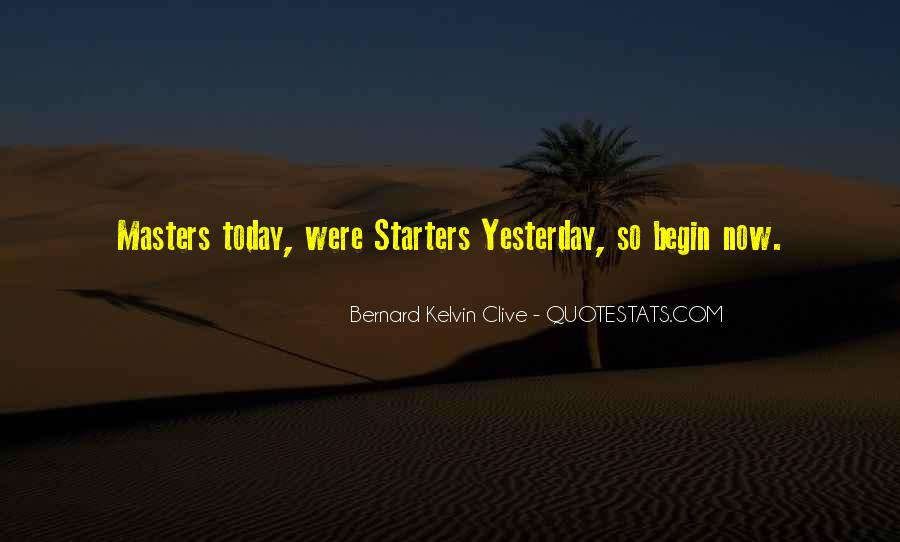Quotes About Starters #1799396
