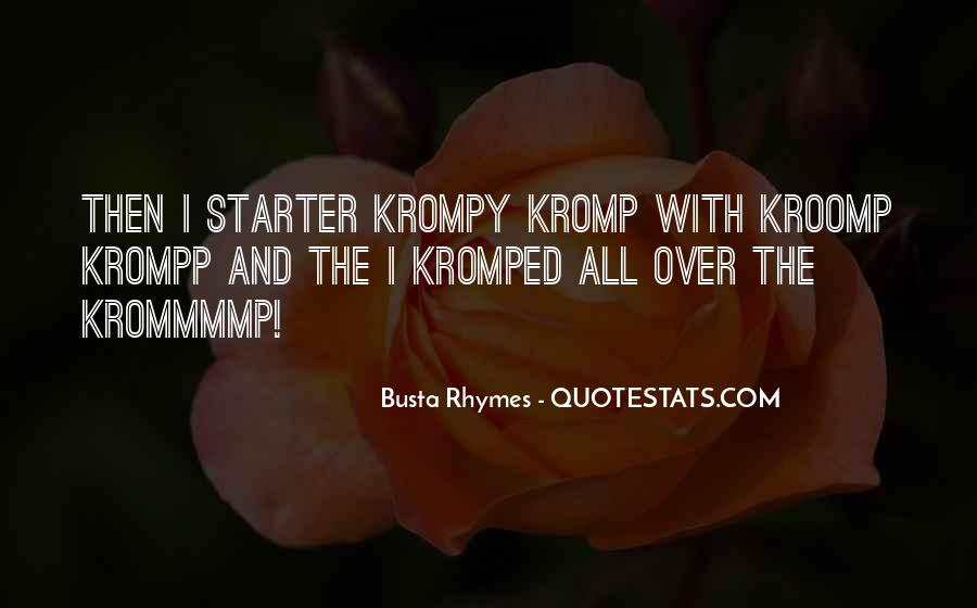 Quotes About Starters #413581