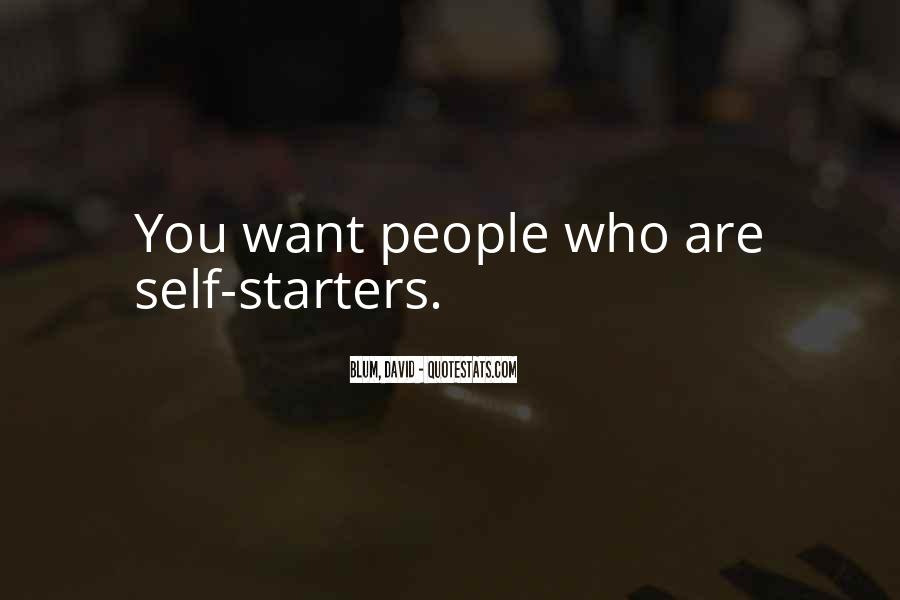 Quotes About Starters #448041