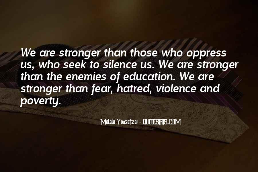 Quotes About Poverty And Violence #1176058