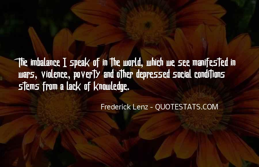 Quotes About Poverty And Violence #1346062