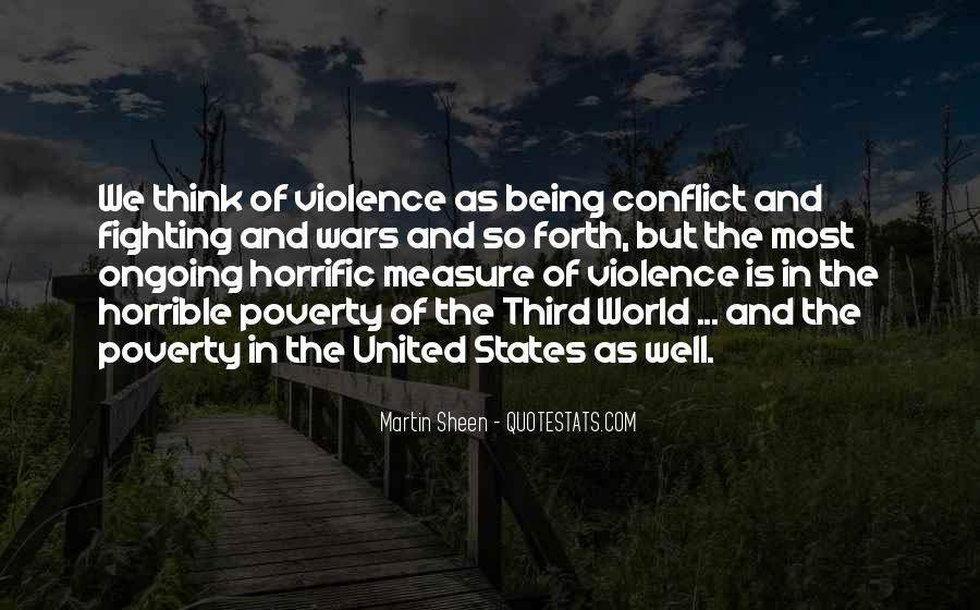 Quotes About Poverty And Violence #1475978