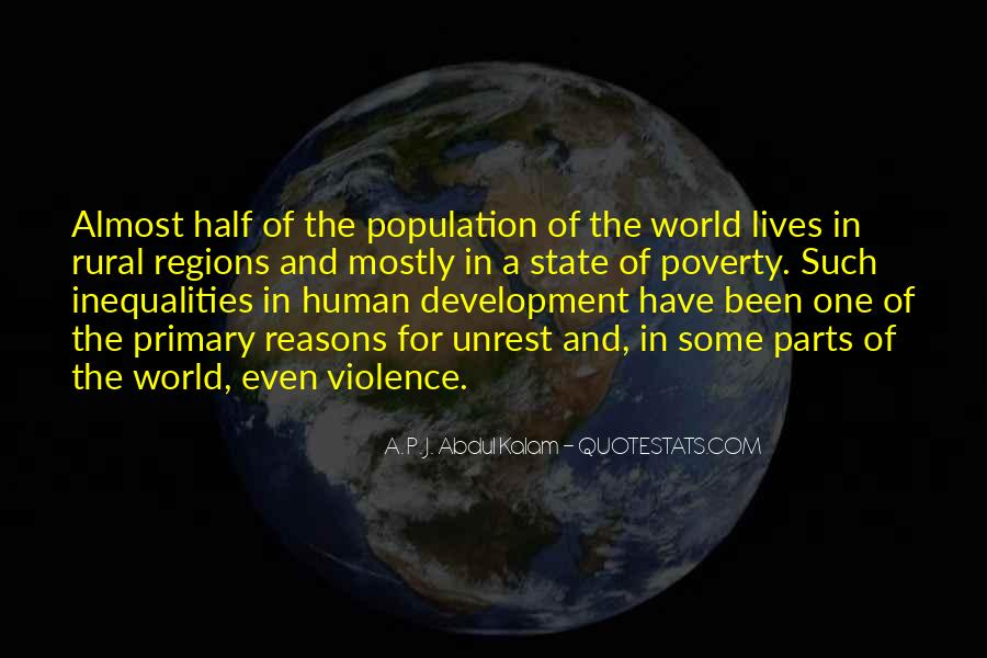 Quotes About Poverty And Violence #1649759