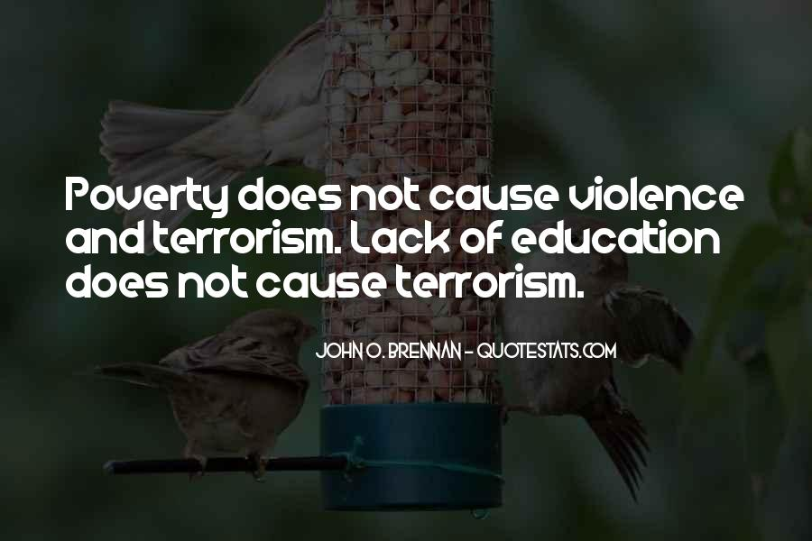 Quotes About Poverty And Violence #545284