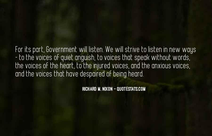 Quotes About Voice Being Heard #589259