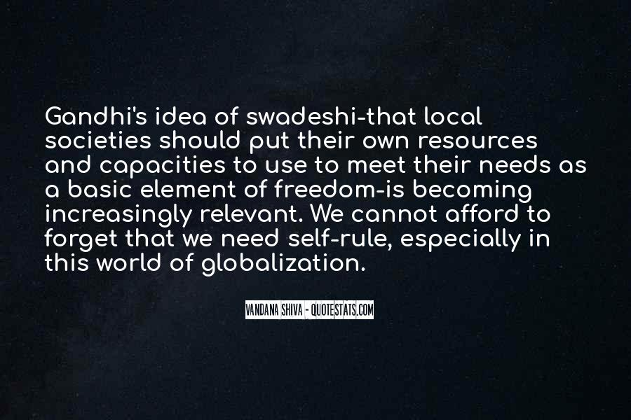 Quotes About Globalization's #1409023