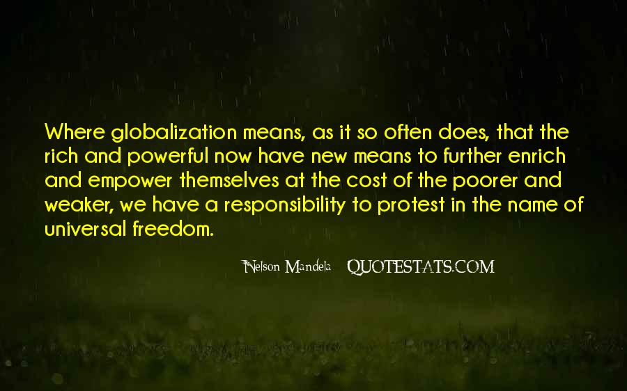 Quotes About Globalization's #170722