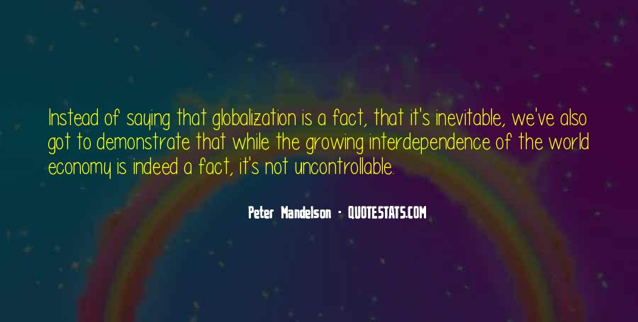 Quotes About Globalization's #728346