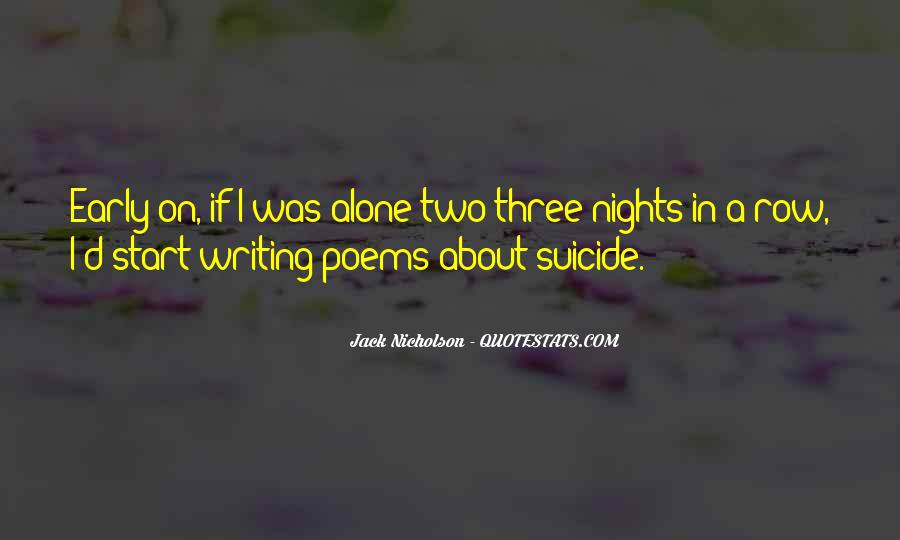 Quotes About Nights Alone #1211502