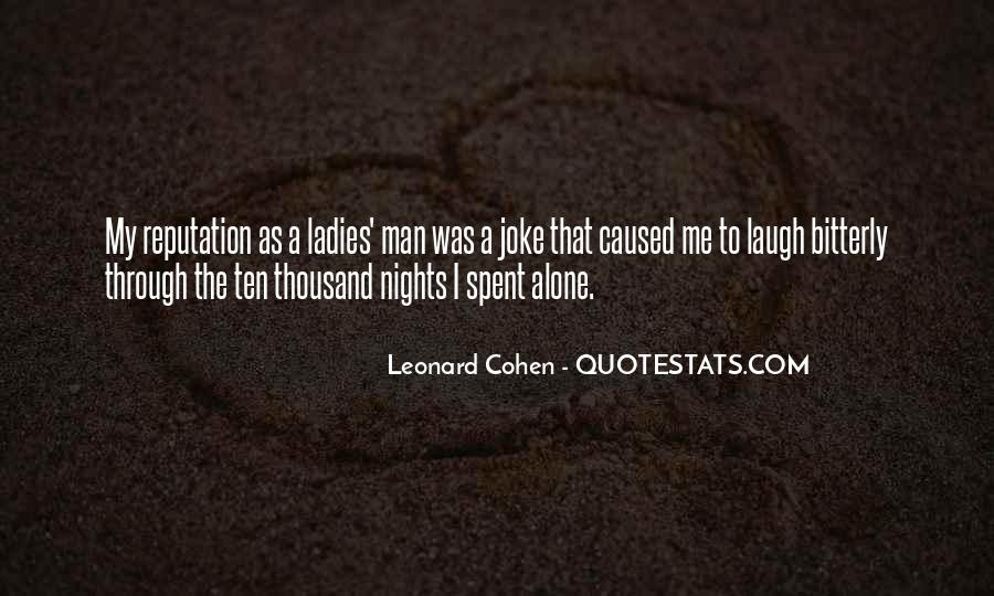 Quotes About Nights Alone #124201