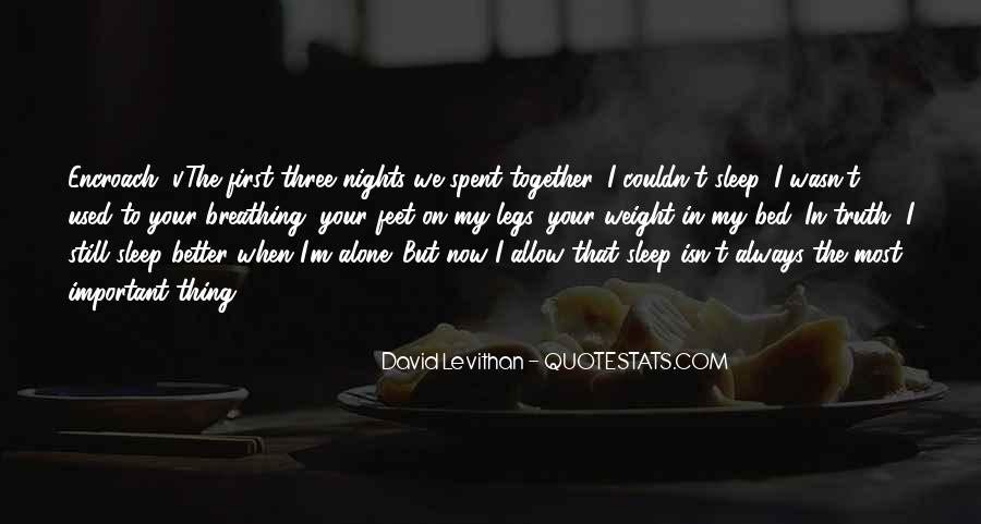Quotes About Nights Alone #1351813