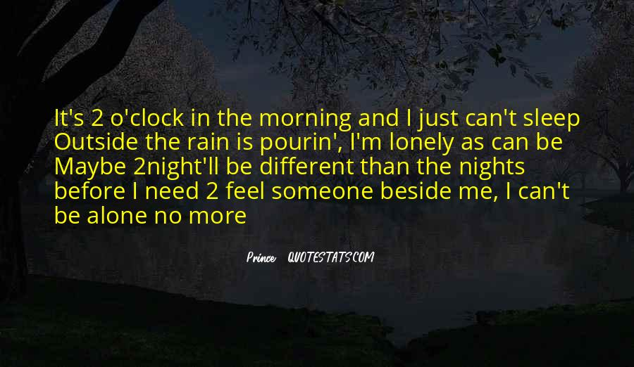 Quotes About Nights Alone #141382