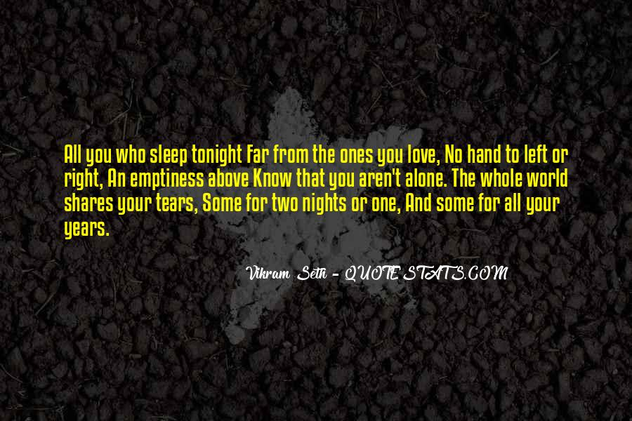 Quotes About Nights Alone #151984