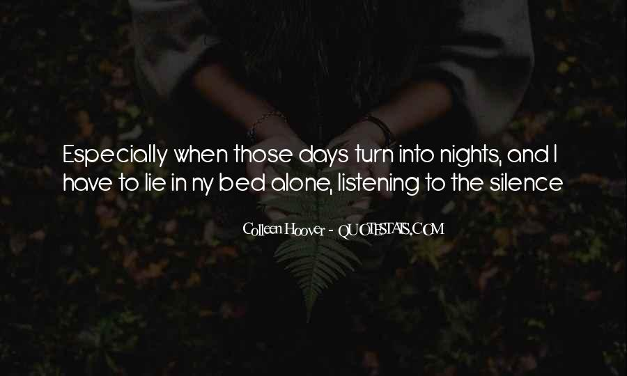 Quotes About Nights Alone #798177
