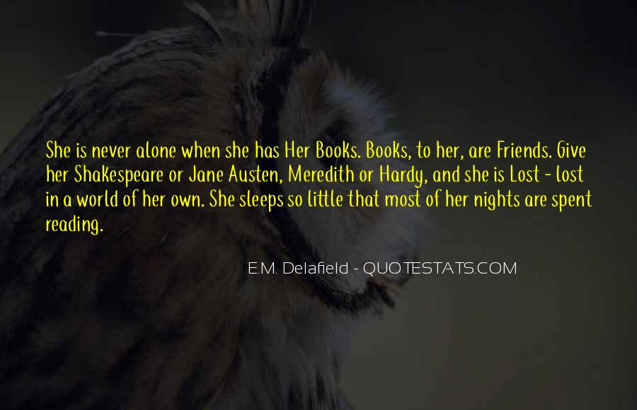 Quotes About Nights Alone #85422