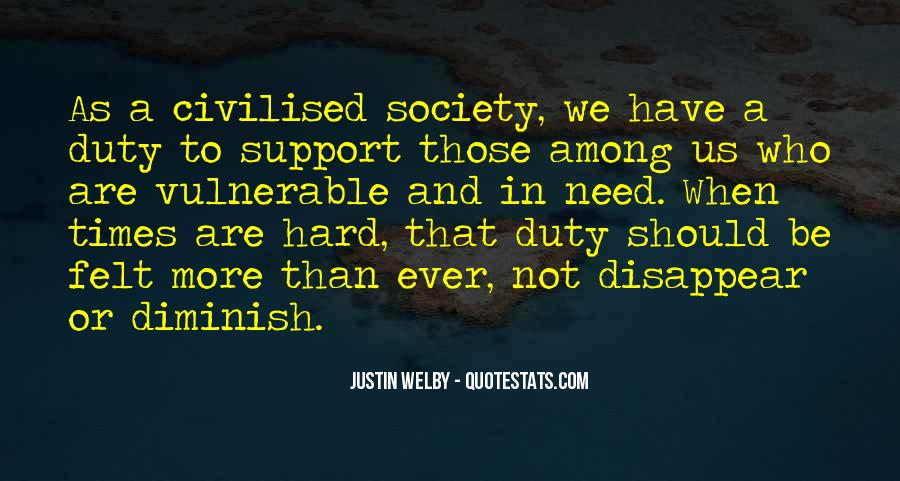 Quotes About Civilised Society #1032139