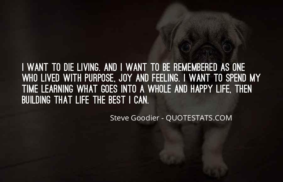 Quotes About A Life Well Lived #315273