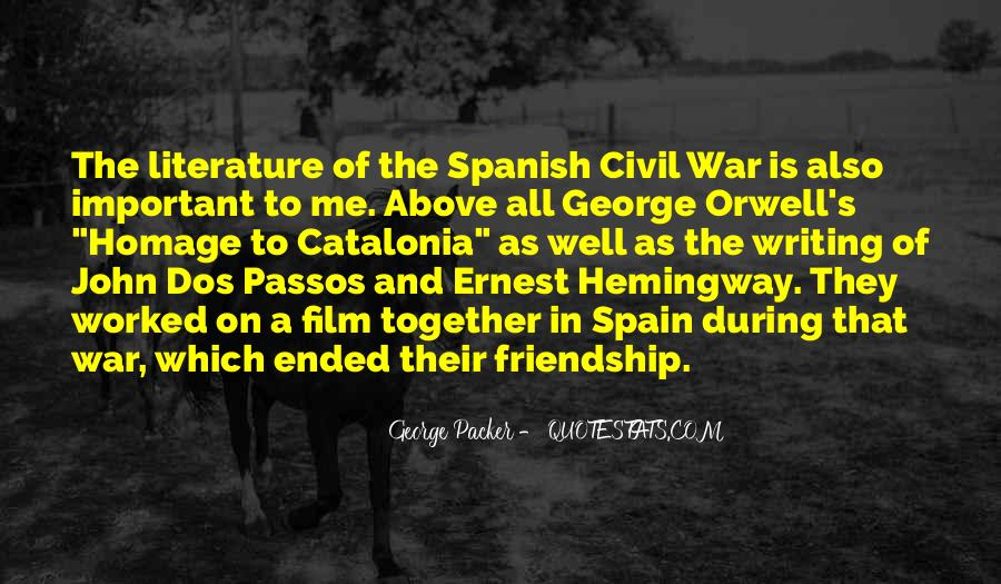 Quotes About Spain Hemingway #1265700