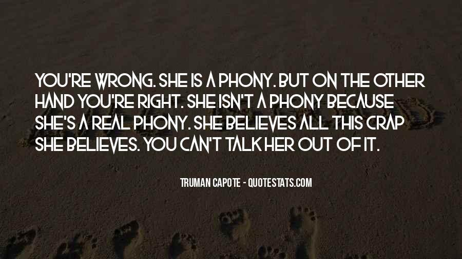 Quotes About Phony #362139