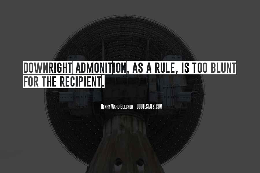 Quotes About Admonition #1531493
