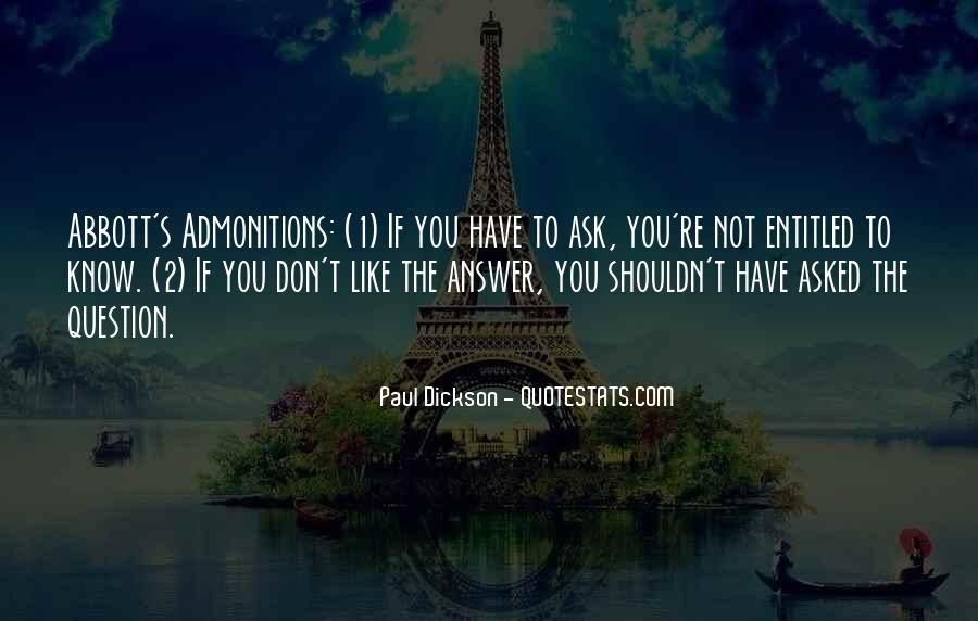 Quotes About Admonition #955711
