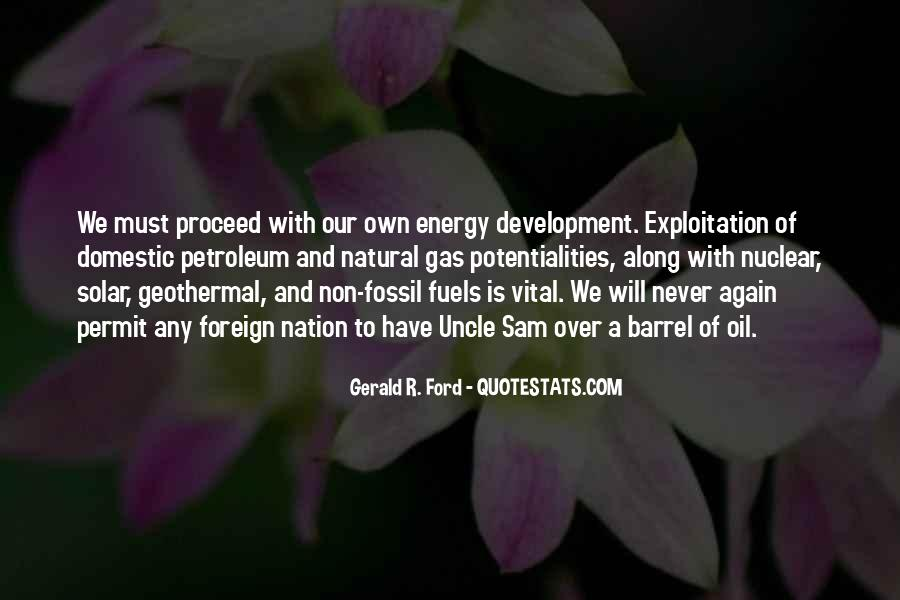 Quotes About Fossil Fuels #53154