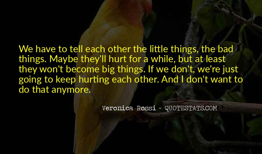 Quotes About The Little Things That Hurt #1056287