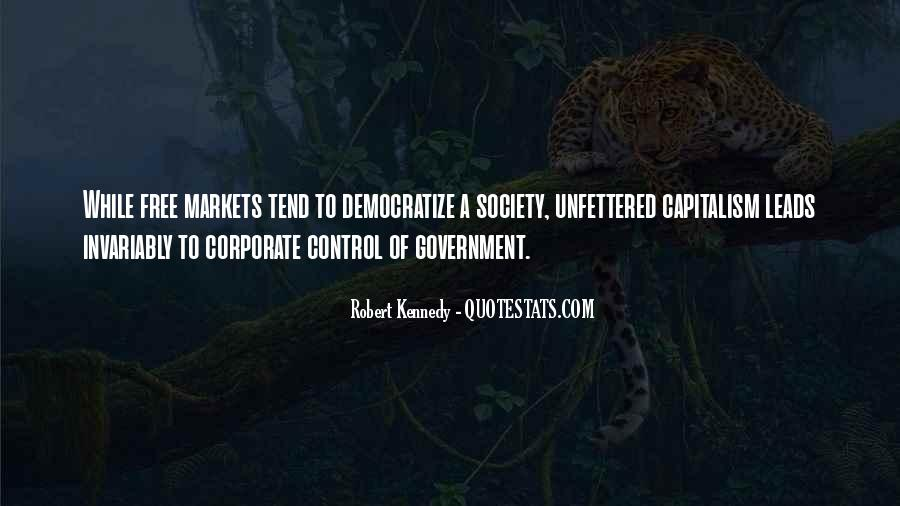 Quotes About Free Market Capitalism #539256