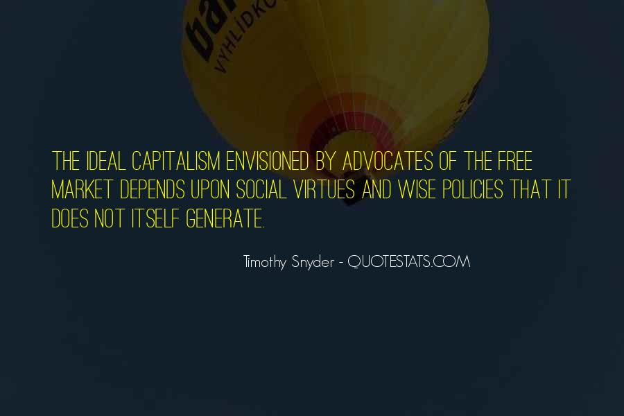 Quotes About Free Market Capitalism #909859