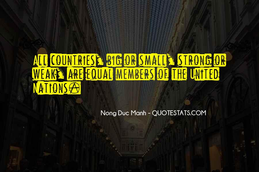 Quotes About Strong Countries #558650