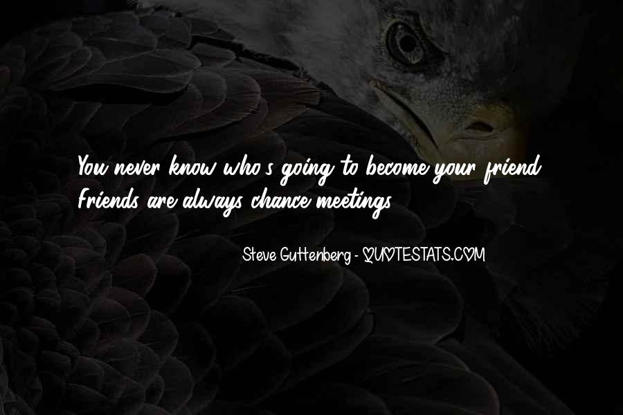 Quotes About Chance Meetings #1748219