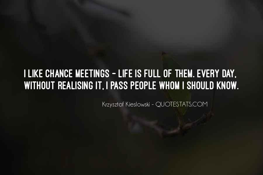 Quotes About Chance Meetings #555103