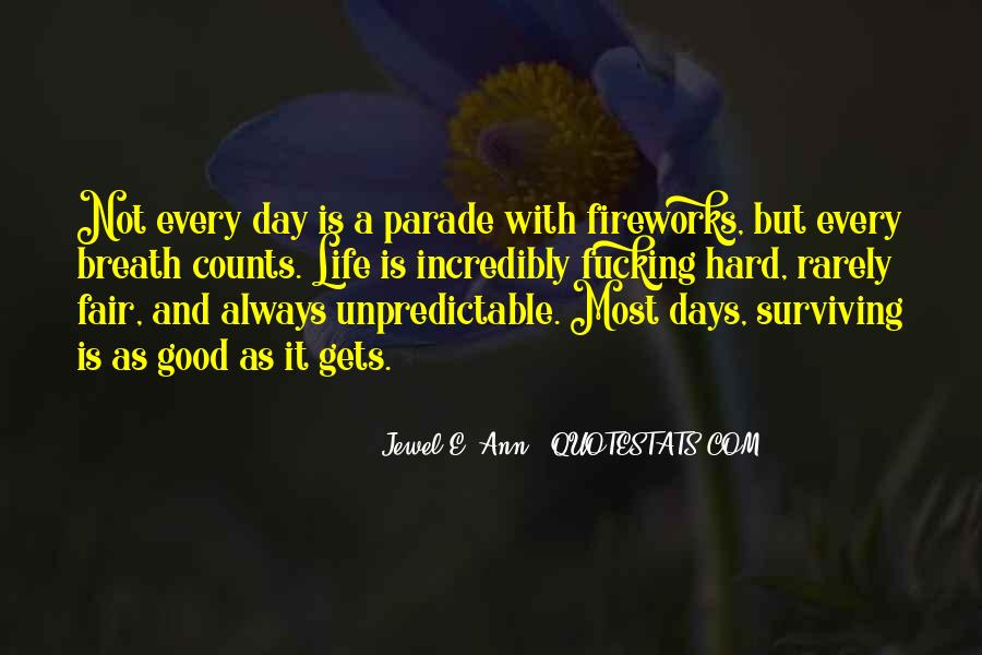 Quotes About Hard Days In Life #233596