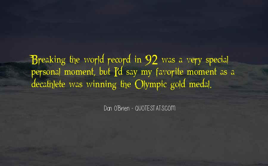 Quotes About Gold Medal #257530