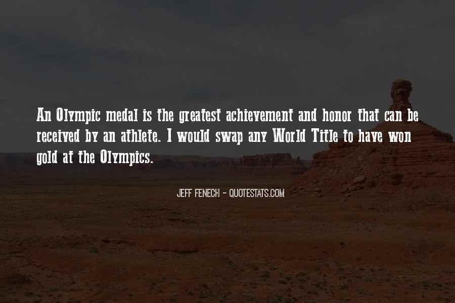 Quotes About Gold Medal #346647