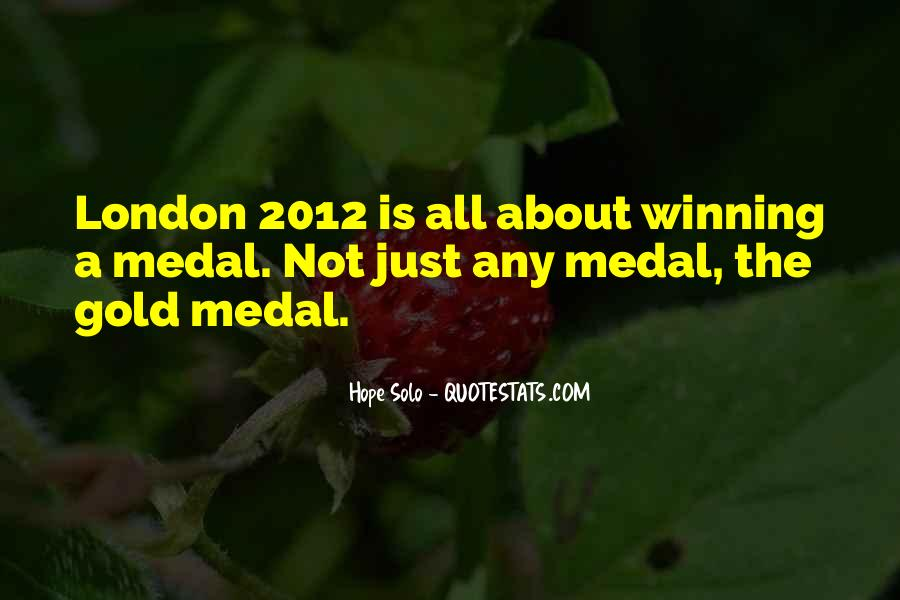 Quotes About Gold Medal #72504