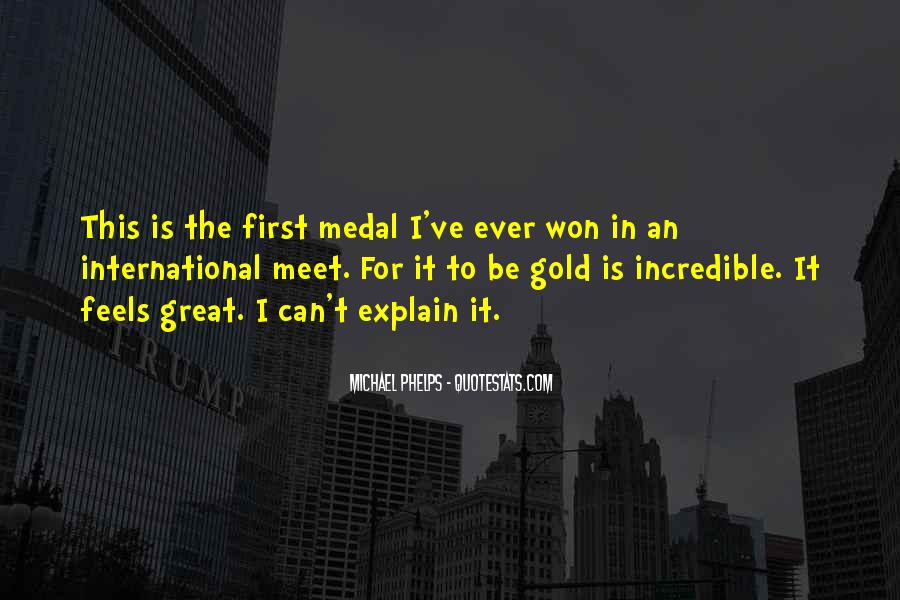 Quotes About Gold Medal #772660